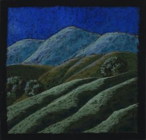 """Moonlit Hills II 18"""" x 18"""""""
