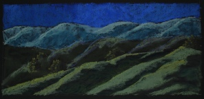 "Moonlit Hill 25"" x 12"""
