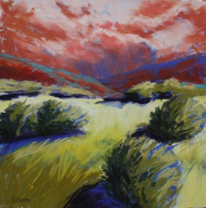 """Red Sky at Morning 18"""" x 18"""""""